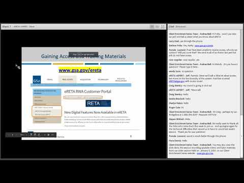 GSA PBS Client Enrichment Series - eRETA eNCORE!
