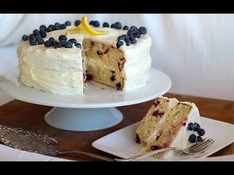 Dessert Recipe: Lemon Blueberry Layer Cake by Everyday Gourmet with Blakely