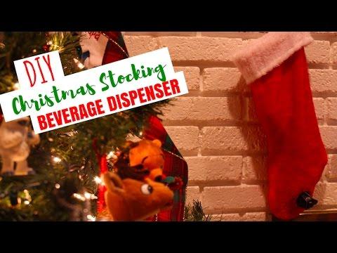 DIY Christmas Stocking Wine/Beverage Dispenser (Santa's Flask)