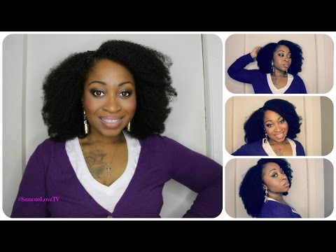 BEST NATURAL KINKY CURLY HAIR AFRO WIG EVER!   Start To Finish Tutorial   #SamoreLoveTV