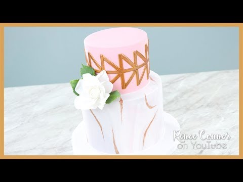 Geometric & Marble Effect Cake   Renee Conner