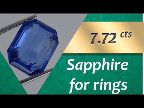 Sapphire Rings: Design Unique Rings with Sapphire 7.72 Carats
