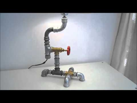 Plumbing pipe industrial retro desk lamp Matadi