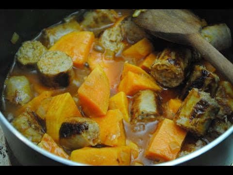 SAUSAGE AND SWEET POTATO CASSEROLE - Student Recipe