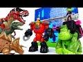 Teen Titans Go Robin Beast Boy Dinosaurs In The Teen Titans Headquarter ToyMart TV