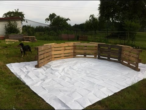 This Backyard Swimming Pool Made Out Of Pallets Will Make Your Neighbors So Jealou