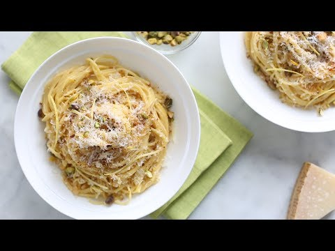 Creamy Lemon Pasta with Pistachios- Everyday Food with Sarah Carey