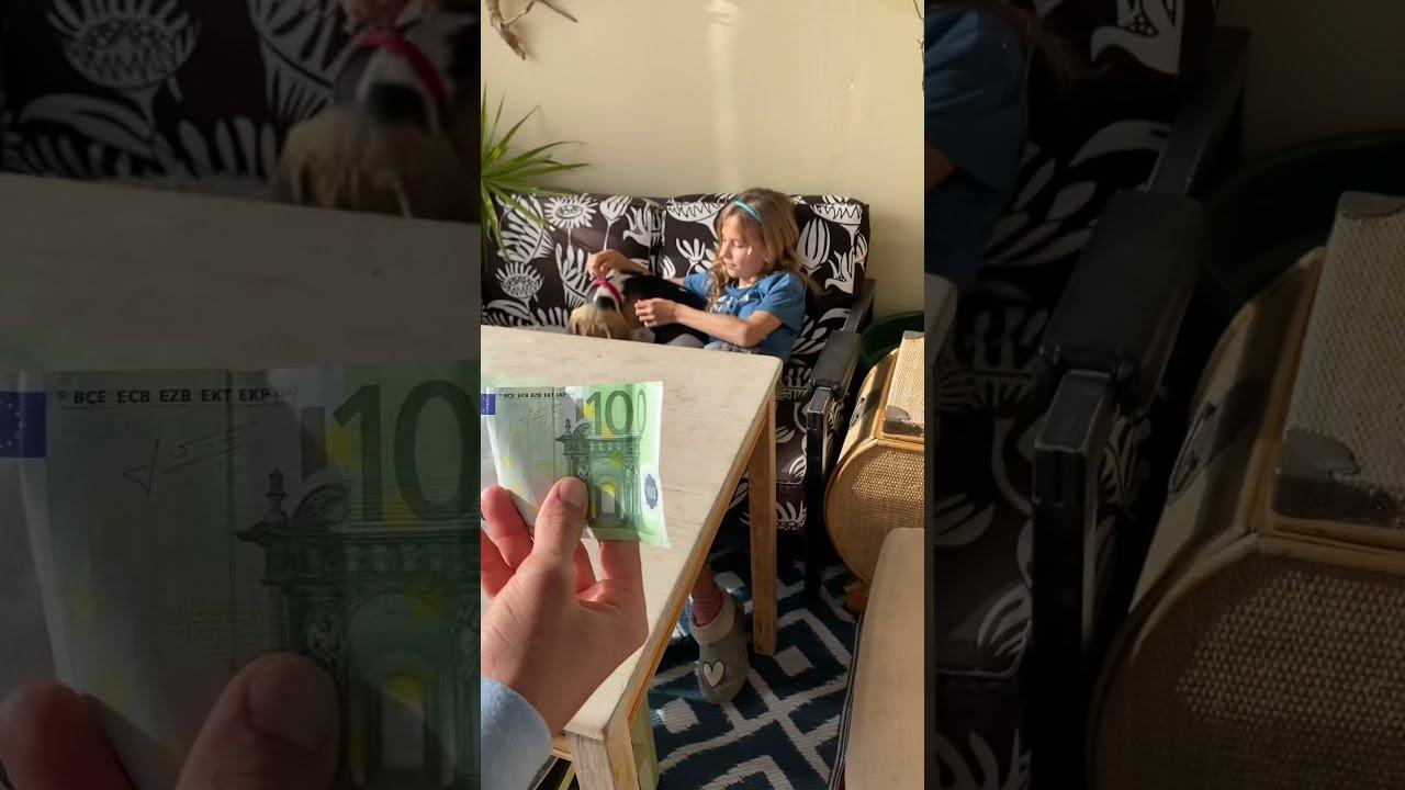 Cómo GANAR 100€ en 10 segundos / truco de Mika Sofi #shorts