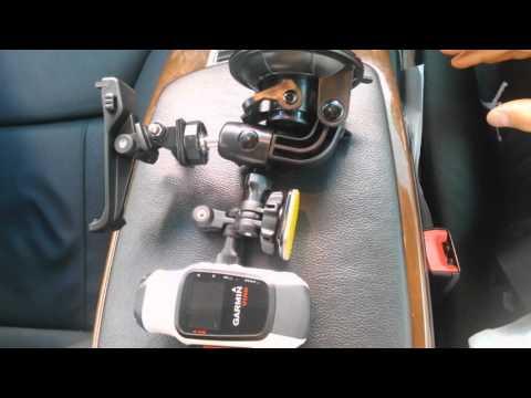 Garmin Virb Elite as a Dashcam and the fittings