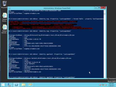 Find users last logon time in Active Directory