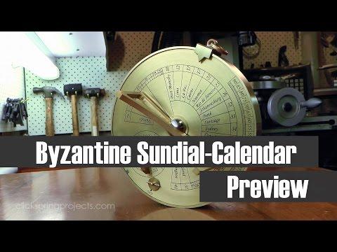The Byzantine Sundial Calendar - The 2nd Patron Series Project - (AKA The London Sundial Calendar)