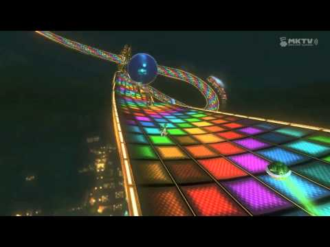 Mario Kart 8 (N64) Rainbow Road - Yoshi VS Rosalina (And Yoshi learns to fly!)