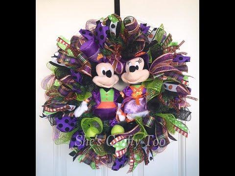 Haunted Mickey Minnie Mansion Wreath
