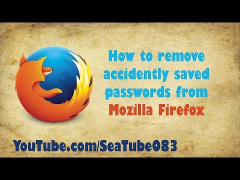 How to remove Accidentally saved password from Mozilla Firefox