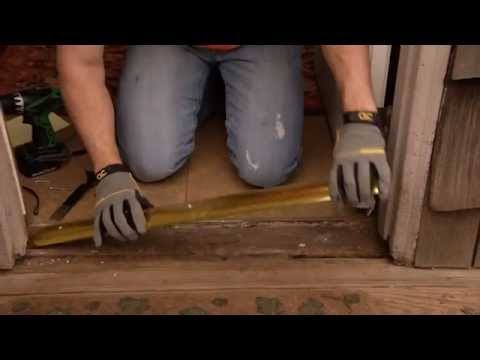 How to Install an Aluminum Door Threshold with a Vinyl Seal