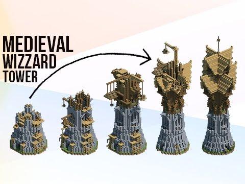 Minecraft: HUGE Medieval Fantasy Wizard Tower!
