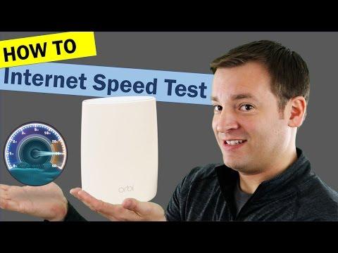 Netgear Orbi Internet Speed Test Tool - On & Off Router Test
