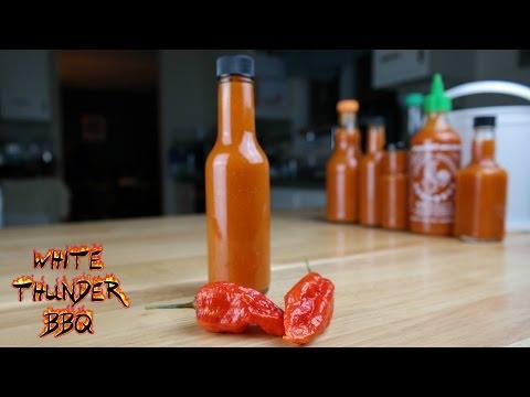 Homemade Ghost Pepper Hot Sauce Recipe | How to make Bhut Jolokia Sriracha | White Thunder BBQ