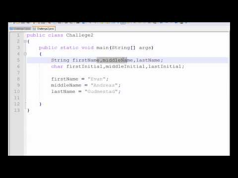 Java Tutorial - 4 - Strings and chars