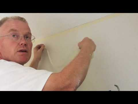 HOW TO PAINT/CUT A STRAIGHT LINE ON A TEXTURED WALL AND CEILING PART I
