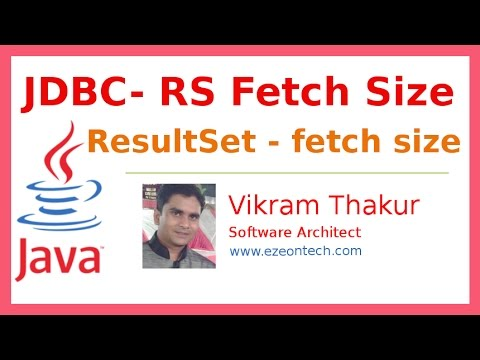 9- JDBC ResultSet Fetch Size Setting Example - Java Training By eZeon