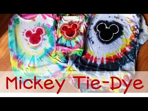 Mickey Mouse Tie-Dye Shirts