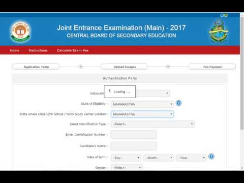 How to fill JEE MAIN 2017 online application form