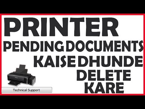 how to delete pending printing documents any printers