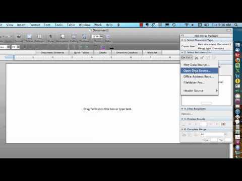 Mail Merge Mac - Envelopes