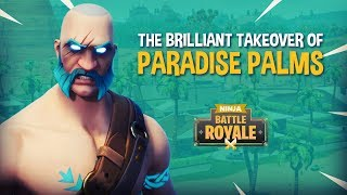 Ninja and Friends Takeover Paradise Palms!! - Fortnite Battle Royale Gameplay