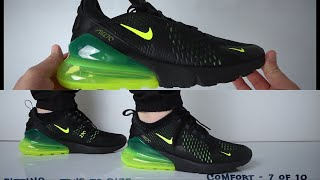 outlet store ce87f 97305 02 23 · Nike Air Max 270 Black Volt (Review) - UNBOXING   ON FEET