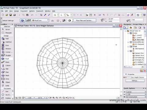 TUTORIAL ARCHICAD - Roof Dome