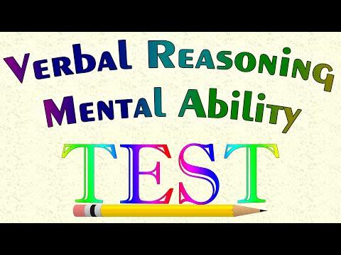 Verbal Reasoning Mental Ability Test   Youtube 2016