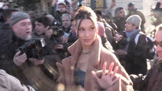The stunning Bella Hadid arriving at the Louis Vuitton Menswear Fashion Show in Paris