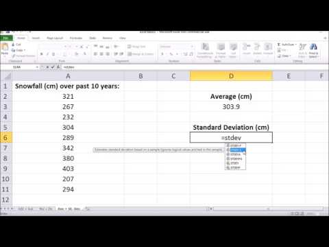 How To Find Average and Standard Deviation in Microsoft Excel 2017