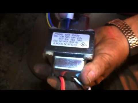 Repair My Own Air Conditioner - Wiring a Transformer