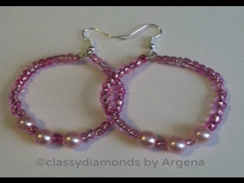 How To Make Handmade Classy Pink Hoop Earrings