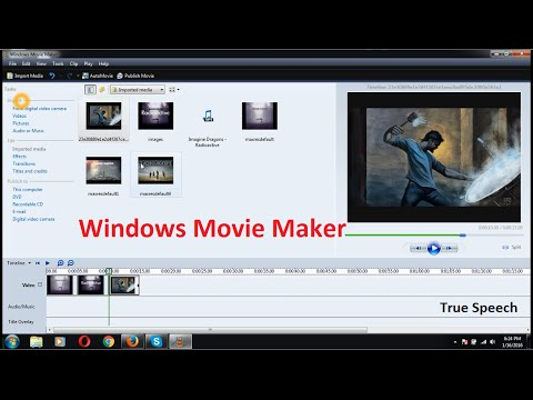 How to make video with Windows Movie Maker 2.6 [ True Speech ]