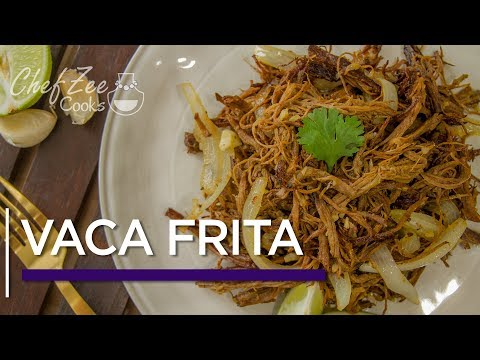 Vaca Frita | Fried Shredded Beef | Made To Order | Chef Zee Cooks