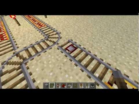 Minecraft - Making Rail Switches to Switch Tracks