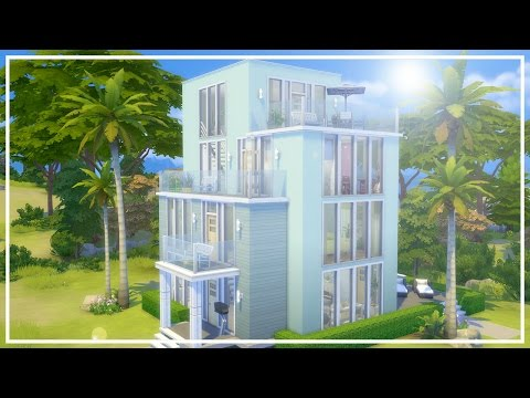MODERN BEACH HOUSE // The Sims 4: Speed Build