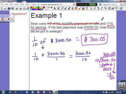 Word Problems with Fractions and Decimals