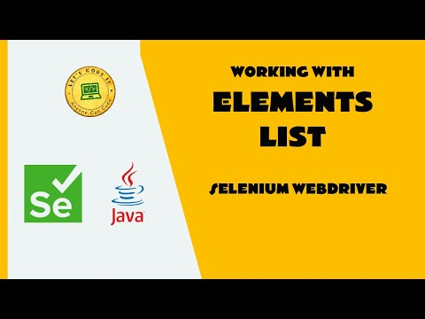 Selenium WebDriver Tutorial - How to find multiple elements