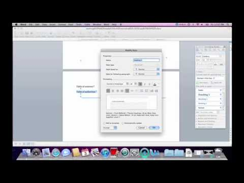 Format Appellate Brief using Mac: Table of Contents and Pagination 1