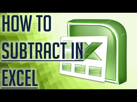 Free Excel Tutorial How To Subtract In Excel Full Hd