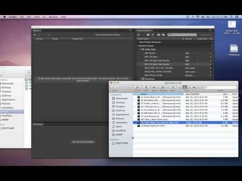 Convert m4a files into mp3 with Adobe Media Encoder Watch Folders