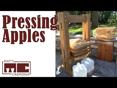 Pressing Apples with a Rack and Cloth Press (Cider)