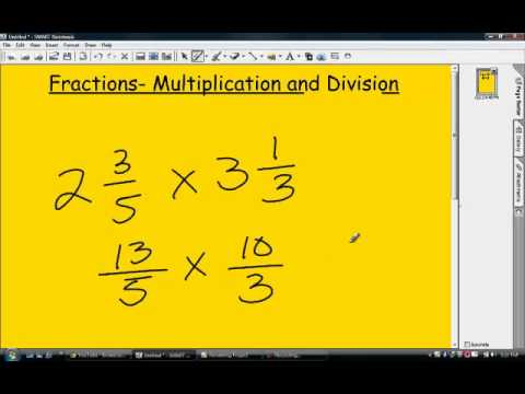 Fractions- Multiplication & Division