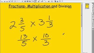 Fractions Multiplication Division