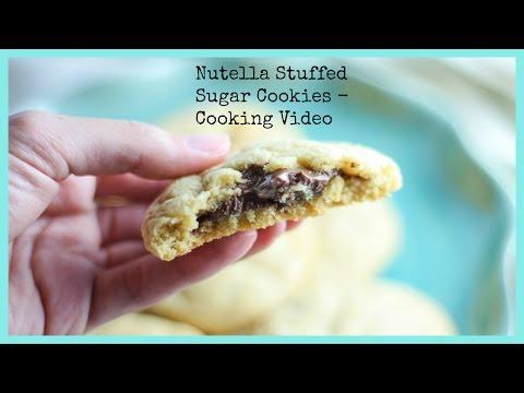 Nutella Stuffed Sugar Cookies - Cooking Video Recipe - Honest and Tasty